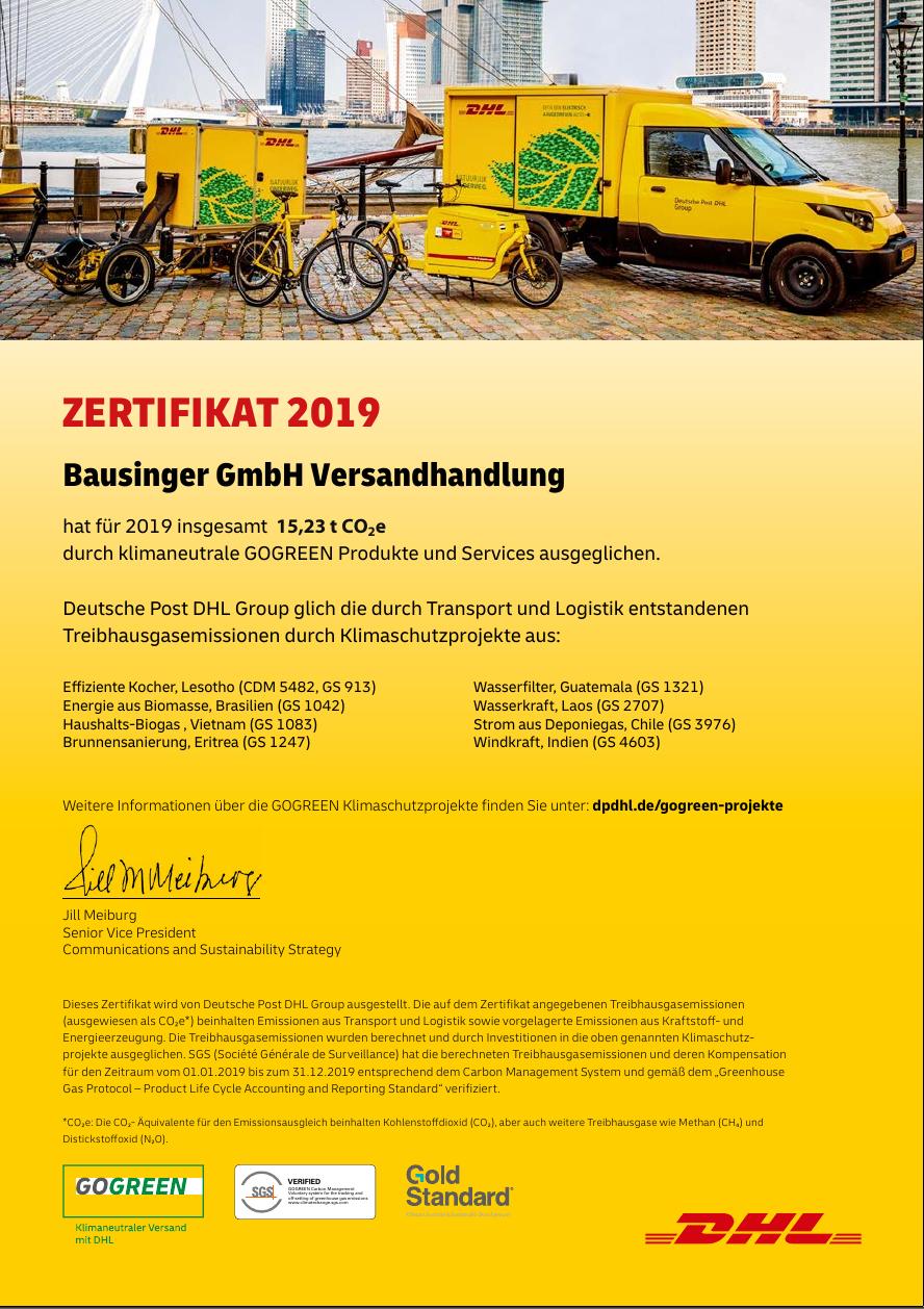DHL GoGreen 2019